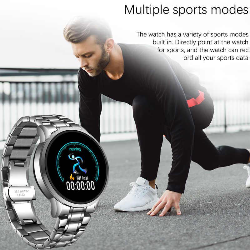 LIGE 2020 Nuovo Orologio Di Lusso Degli Uomini di Sport Impermeabile Inseguitore di Fitness Frequenza Cardiaca Sfigmomanometro Pedometro Android iOS Orologio Donna