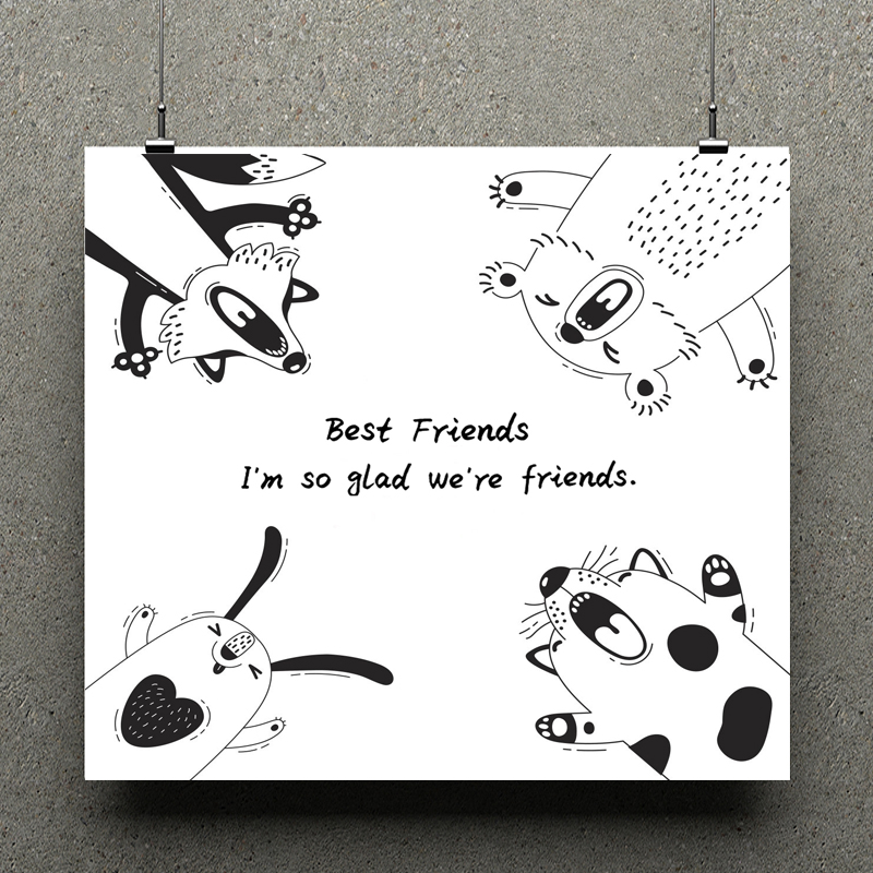 AZSG Cute Animals / Best Friends Clear Stamps For Scrapbooking DIY Clip Art /Card Making Decoration Silicone Stamps Crafts
