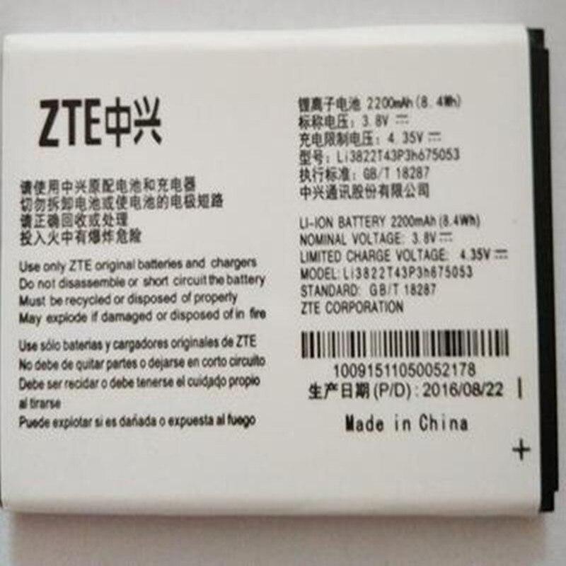 New  Li3822T43P3h675053 Battery Fit For ZTE Blade QLux Q Lux A430 Q Lux 3g 4g 2200mah Batteries