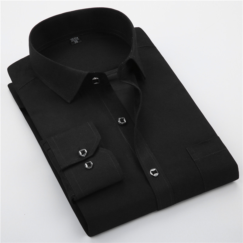 Luxury Dress Shirts Mens New Slim Fit Long Sleeve Camisa Masculina 2020 Spring Chemise Homme Social Men Shirt Plus Size M-5XL