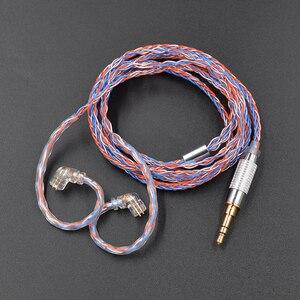 Image 5 - 3.5mm mmcx 0.75mm 2pin 8 코어 도금 실버 업그레이드 된 케이블 교체 헤드폰 케이블 kz zst zs10 pro cca c10