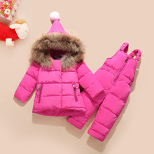 Boys Ski Snow Wear Winter Children Clothing Set For Girls Jacket Coat Overalls Warm Down Snow Suit Baby Kids Warm Clothes
