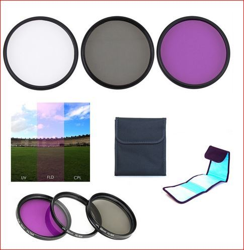 40.5mm/49mm/52mm/55mm/58mm/62mm/67mm/72mm/77mm UV CPL FLD Filter Kit for Sony A6500 A6400 A6300 A6100 A6000 A5100 A5000 NEX 6 NEX 5T NEX 3N Camera with 16 50mm lens