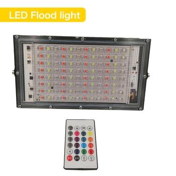 100W RGB Led FloodLight AC 220V 230V 240V Outdoor Floodlight Spotlight IP65 Waterproof LED Garden Wall Street Landscape Lighting