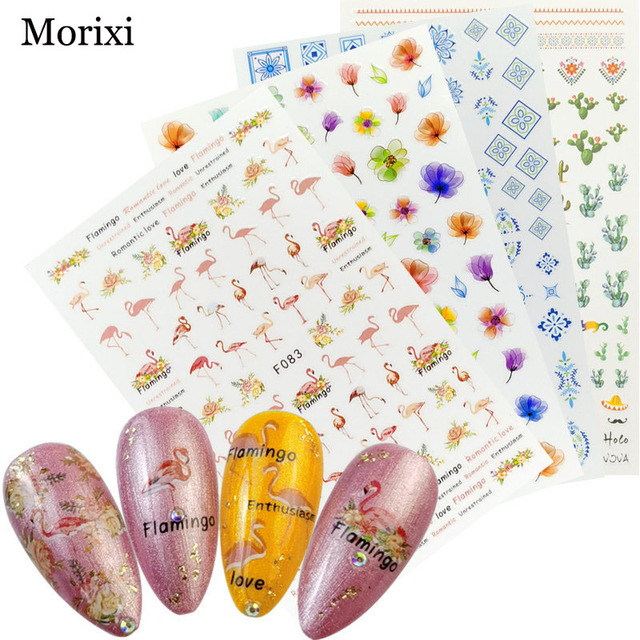 Купить morixi nail art sticker big size back glue adhesive for manicure картинки цена