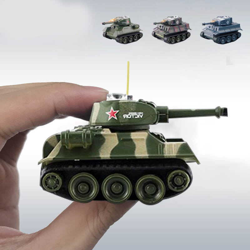 tiger mini rc tank war military model brain game radio-controlled tank tiger rc military vehicles toys for boys girls gift