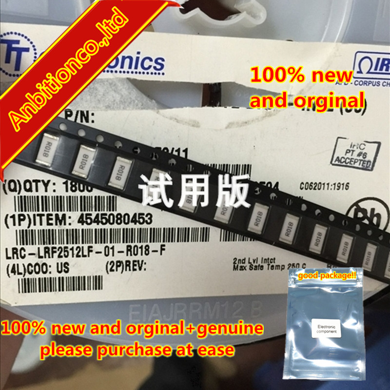 10pcs 100% New And Orginal Ceramic Resistor LRC-LRF2512LF-01-R018-F 2W 2512-0.018R 1% In Stock