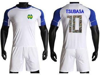 Kapitan Tsubasa niebieskie ramię biała koszulka piłkarska dzieci mężczyźni rozmiar cartoon y japonia zestawy piłkarskie Oliver Atom Maillot moda tanie i dobre opinie Vieruodis Poliester Pasuje mniejszy niż zwykle proszę sprawdzić ten sklep jest dobór informacji