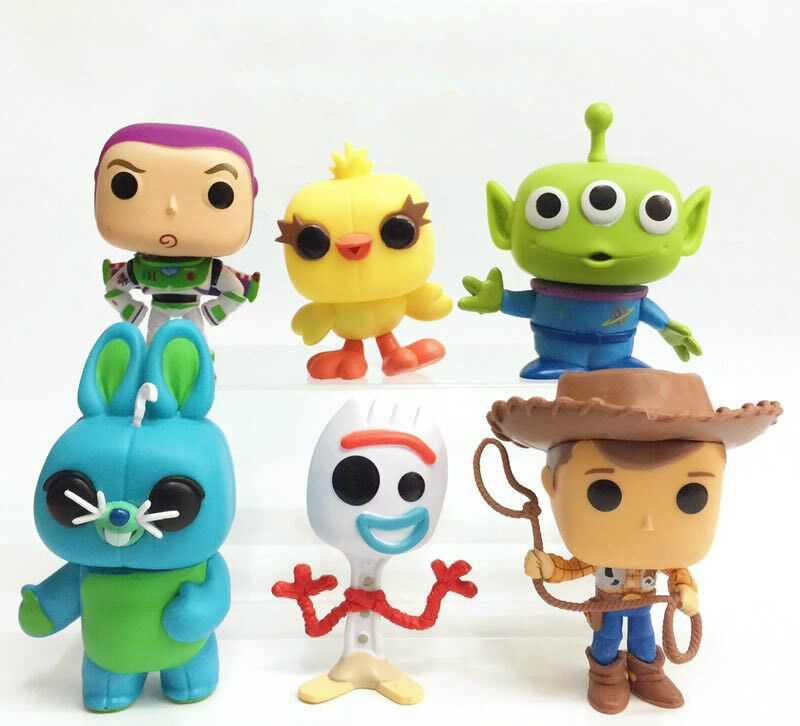 6 unids/set de película de dibujos animados juguetes historia Woody Buzz Lightyear figura de Alien juguete modelo