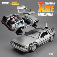 1/24 Scale Metal Alloy Car Diecast Model kit Part 3 Time Machine DeLorean flotante DMC 12 Toy Back to the Future legoings