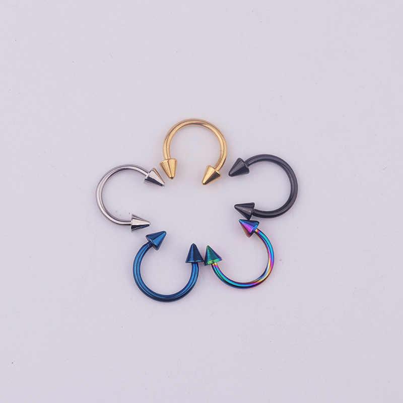 Anillo de Nariz falso Tragus Piercing herradura Septum quirúrgico de acero oreja labio Tragus Industrial Piercing Nariz joyería del cuerpo