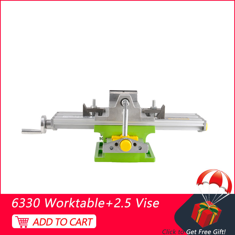 CNC Mini 330 * 95mm Bench Drill Working Table Multifunctional Vise Adjustment Coordinate Table + Flat Vise For Engraving Machine