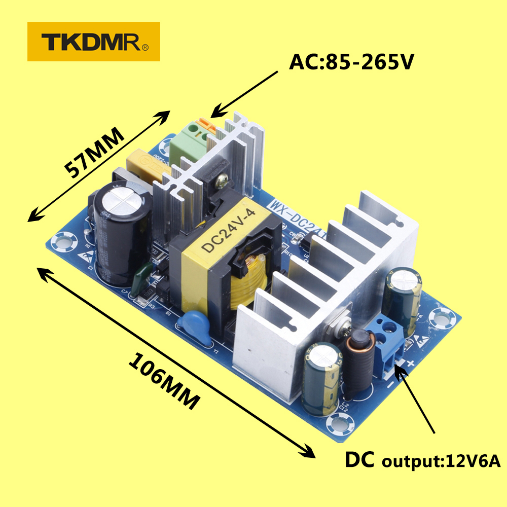 TKDMR Power Supply Module AC 110v <font><b>220v</b></font> to DC 24V <font><b>6A</b></font> AC-DC <font><b>Switching</b></font> Power Supply Board 828 Promotion image