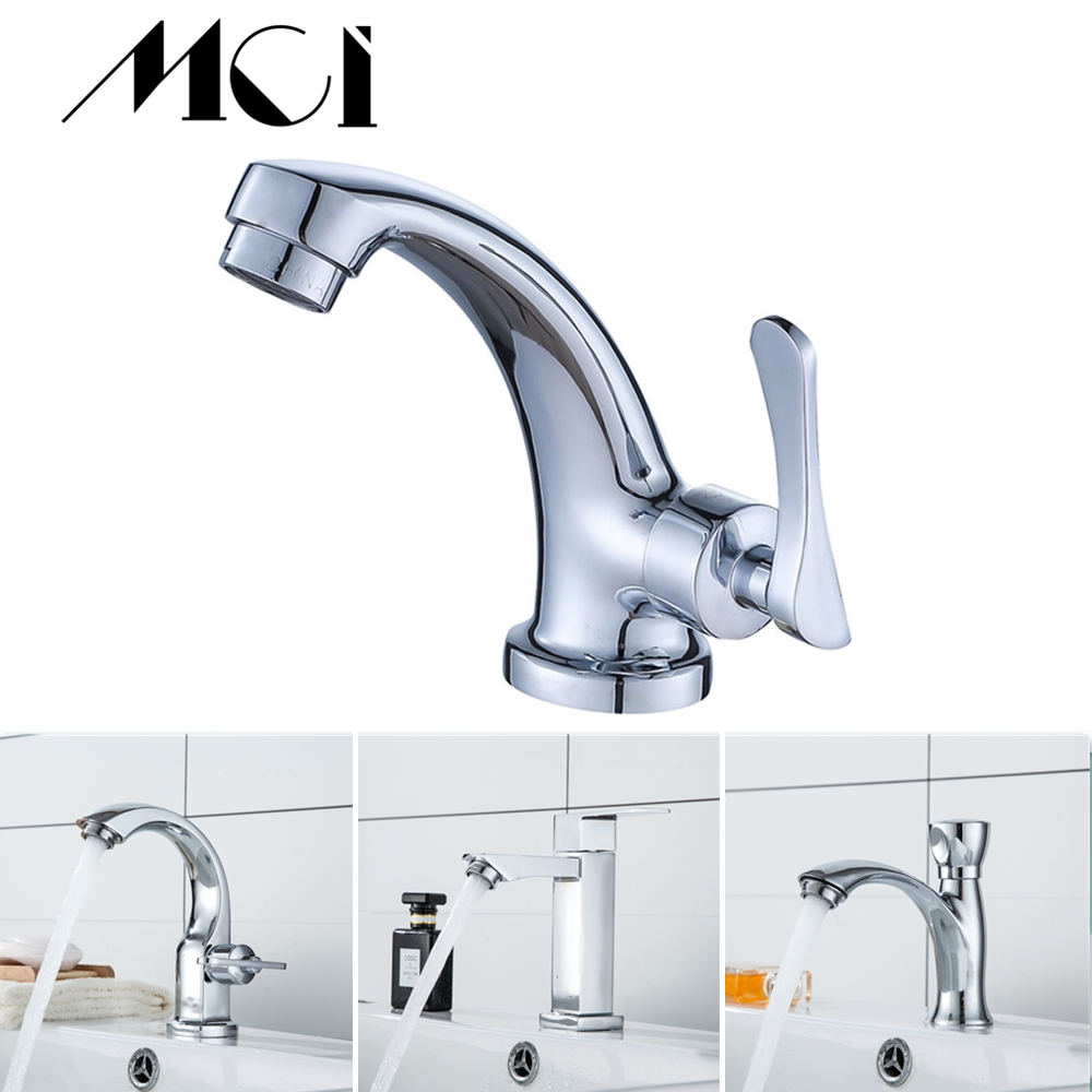 Mci Bathroom Faucet Zinc Alloy Basin Faucet Deck Mounted Sink Single Cold Single Handle Tap Corrosion Resistance Taps Torneira