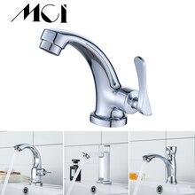 Grifo de baño Mci de aleación de Zinc, grifo de lavabo montado en cubierta, grifo Solo Frío un solo Mango, grifos de resistencia a la corrosión
