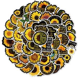 100 Pcs Sunflower you are my sunshine graffiti stickers waterproof luggage stickers