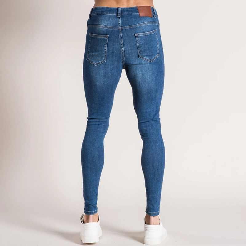 Herren Ripped Jeans Beiläufige Dünne slim Fit Denim Hosen Biker Hip Hop Jeans mit sexy Holel Dünne Distressed Jeans Denim hosen