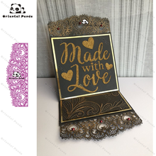 New Dies For 2020 Love lace Metal Cutting Dies diy Dies photo album  cutting dies Scrapbooking Stencil Die Cuts Card Making lace strip photo frame metal cutting dies for scrapbooking dies new 2020 stencils dies embossing die cuts card making craft dies
