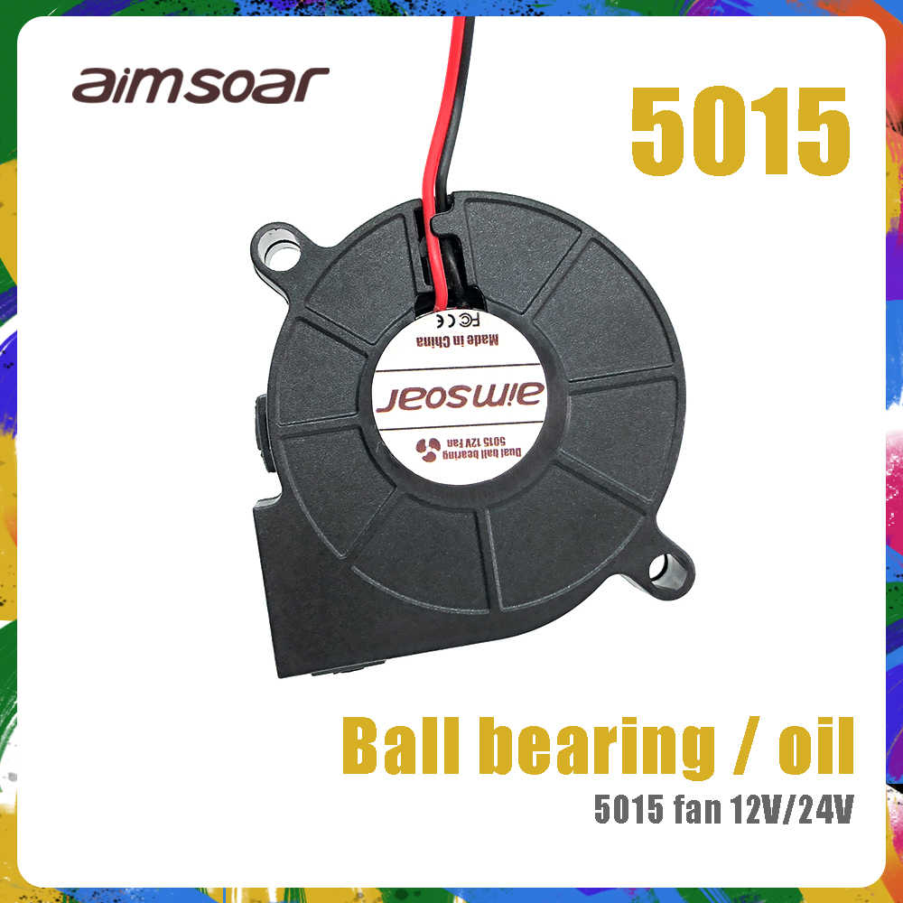 5015 Fan 12 V 24 V Ender 3 Fan 50 Mm Minyak Fan Bantalan Bola Ganda Fan Blower Pendingin kipas Angin 2 Pin 3d Printer Parts 5015 50*50*15 Mm