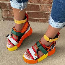 Женские сандалии на толстой подошве легкие повседневные босоножки