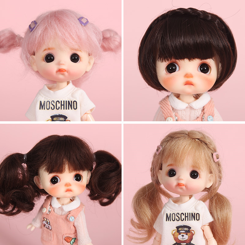 Aidolla  1/8 BJD&Kurhn Doll Hair Wig Soft Fiber/mohair Bob Hair For 14-15cm Diameter Lovely Doll