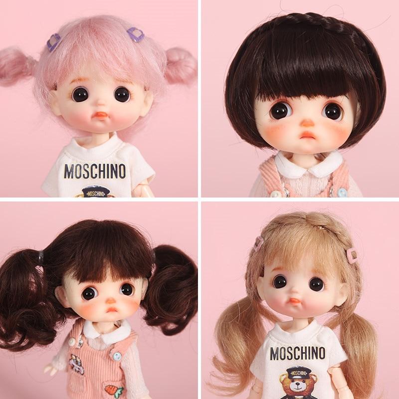 Aidolla  1/8 BJD&Kurhn Doll Hair Wig Soft Fiber/mohair Bob Hair For 14-15cm Diameter Lovely Doll