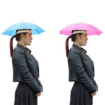Przenośny odkryty sport czapka parasolka Cap składany kobiety mężczyźni parasol wędkowanie piesze wycieczki Golf plaża nakrycia głowy zestaw głośnomówiący tanie i dobre opinie Fishing Cap Stałe Poliester Fishing Hat 170T steel wire plastic 8 bone 55CM Fishing Accessories