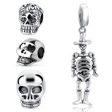 StrollGirl silver 925 skull head pandora charms beads collection fit original charms bracelet female diy fashion jewelry gifts(China)