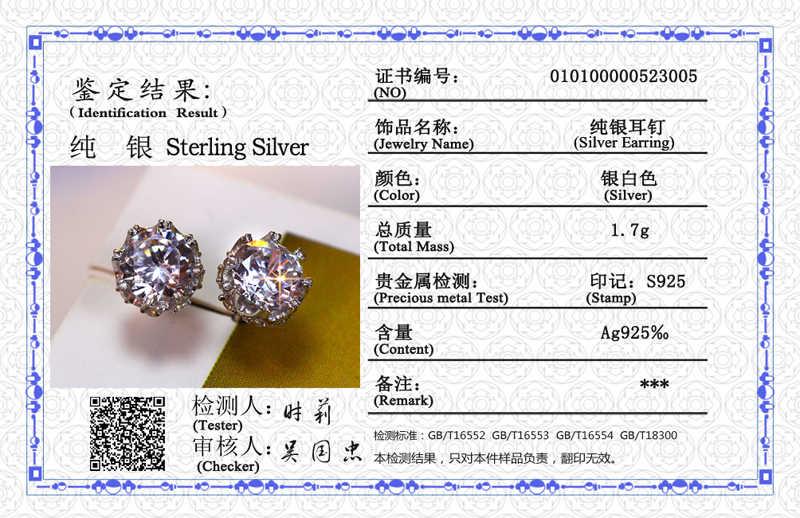 Hanno Certificato Popolare di Stile In Argento Sterling 925 di Alta Qualità Zircone Pietra Bianca di Lusso di Usura Quotidiana Orecchini D'argento SE10817R