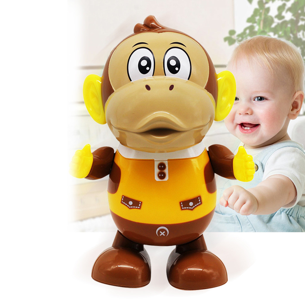 Funny LED Light Music Dancing Monkey Toy Fun Dancing Electrical Light Music Model Toys Juguetes Kids Toys Brinquedos игрушки