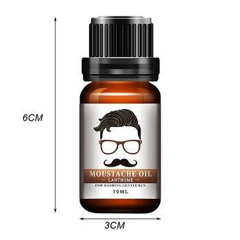 1pc Men Natural Organic Styling Moustache Oil Moisturizing Smoothing Dashing Gentlemen Beard Oil Face Hair Care Top Quality 5