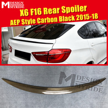 цена на X6 F16 Spoiler Lip Tail Wing P Style Real Carbon Fiber For BMW X Series E71 Auto Car Rear Trunk Diffuser Stem Spoiler 2015-2018