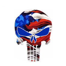 9.1Cm * 12.7Cm Vs Creatieve Vlag Punisher Schedel Auto Sticker Pvc Reflecterende Decal 6-0117(China)