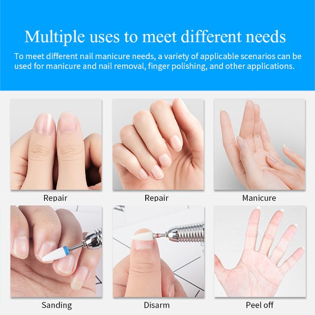 1 pc Ceramic Nail Drill Bits Milling Cutter for Manicuring Colorful Grinding Head Electric Nail File Buffer Nail Art Tools 3