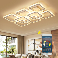 LED Chandelier Modern Ceiling chandeliers Lighting For Living Room Bedroom kitchen Lustre With Remote Control Light Fixtures