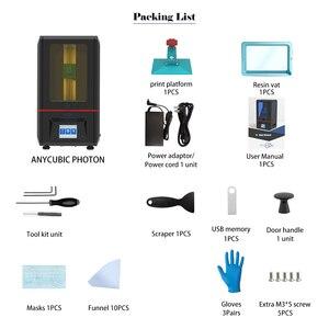 Image 5 - Anycubique Photon résine 3d imprimante UV LED écran tactile ultime tranche vitesse intérieur bureau SLA 3d imprimante impresora 3d Impressora
