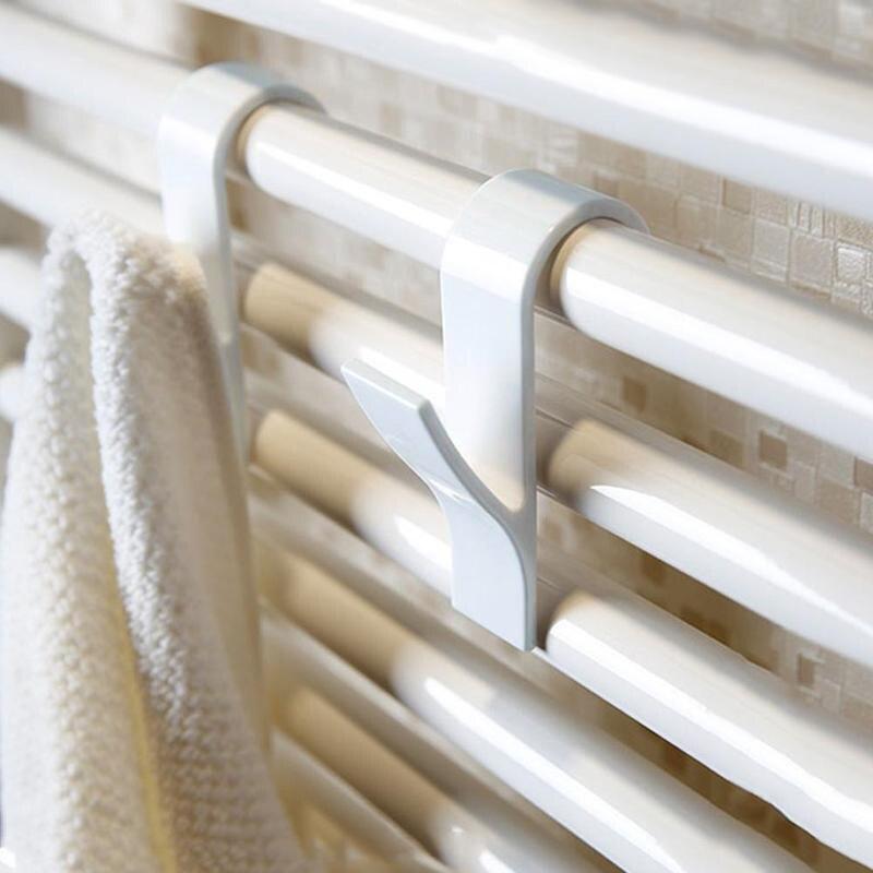 For Storage Hanging Towel Mop Hooks Hanger Storage Holders Clothes Hat Rail Radiator Tubular Bath Hook Holder K888