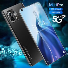 M11 Pro 7.3 Global Version Smartphones Andriod10 Phone MTK6889 Face ID 12+512GB 6800mAh Big Battery 16+32MP 5G LTE Cellphone