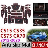 Otomobiller ve Motosikletler'ten Araba Çıkartmaları'de Kaymaz kauçuk kapısı yuvası kupası Mat Changan CS15 CS35 CS75 CX70 2012 2013 2014 2015 2016 2017 2018 2019 aksesuarları çıkartmalar