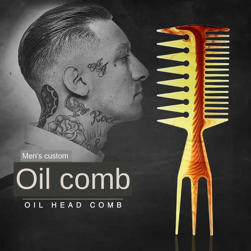 Comb For Men Hair Styling Tool Heat-resistant Large Comb For Amber Professional Hair Brush Comb Salon Barber G0114