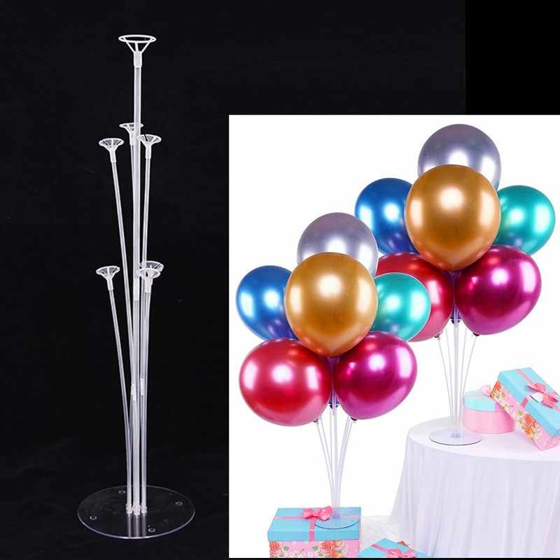 40 anniversaire ballon support Latex ballons Table flottant métallique confettis ballon arc Kits ballon support décorations de mariage