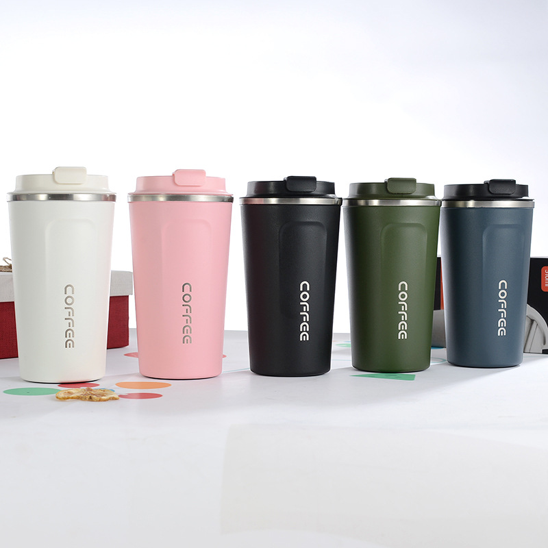 Insulated Coffee Cup Mug Travel Thermal Stainless Steel Flask  Vacuum Leakproof