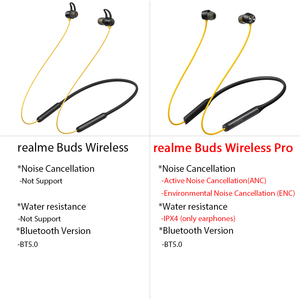 Image 5 - Global Version realme Buds Wireless /Pro Bluetooth 5.0 Magnetic Connection Bass Boost Driver 12H Battery Life For realme 7 Pro 7