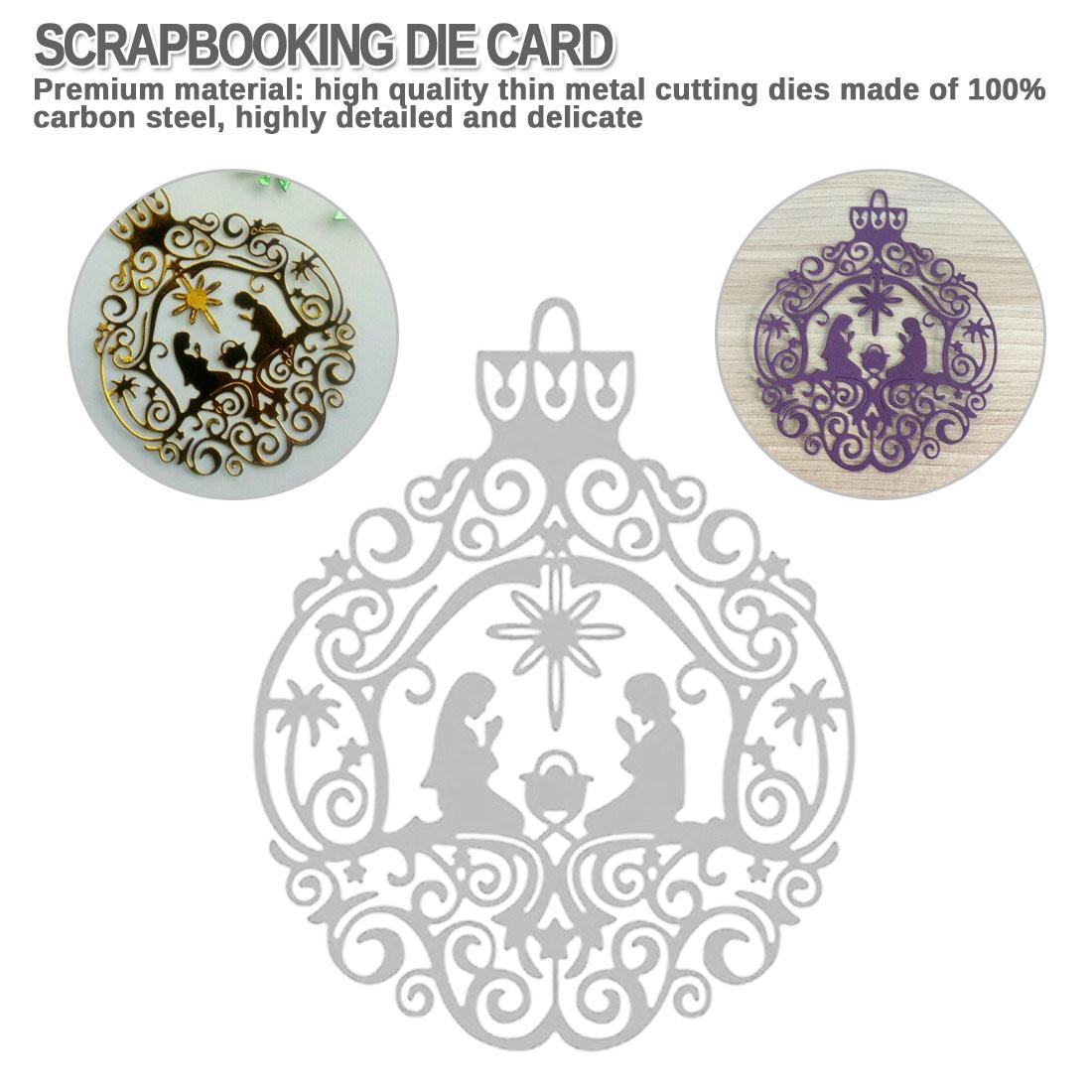 YESZ Cutting Die Silver Tree Metal Cutting Dies DIY Scrapbooking Emboss Paper Cards Making Stencil Mold
