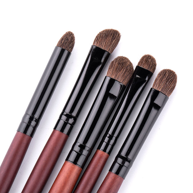 RANCAI Eyeshadow Brush 3/5PCS Makeup Brushes Blending Eyebrow Brush Nature Bristles Horse Hair Eye Shadow Brush Set 4