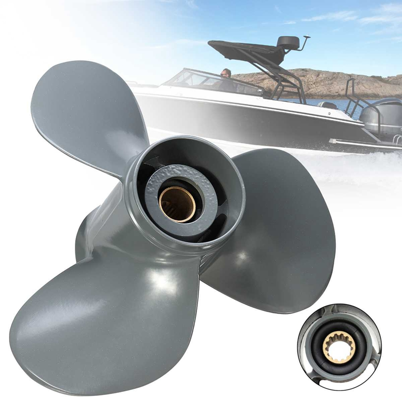 Stainless Steel Outboard Propeller 11-1//4X13 for Honda 35-60HP