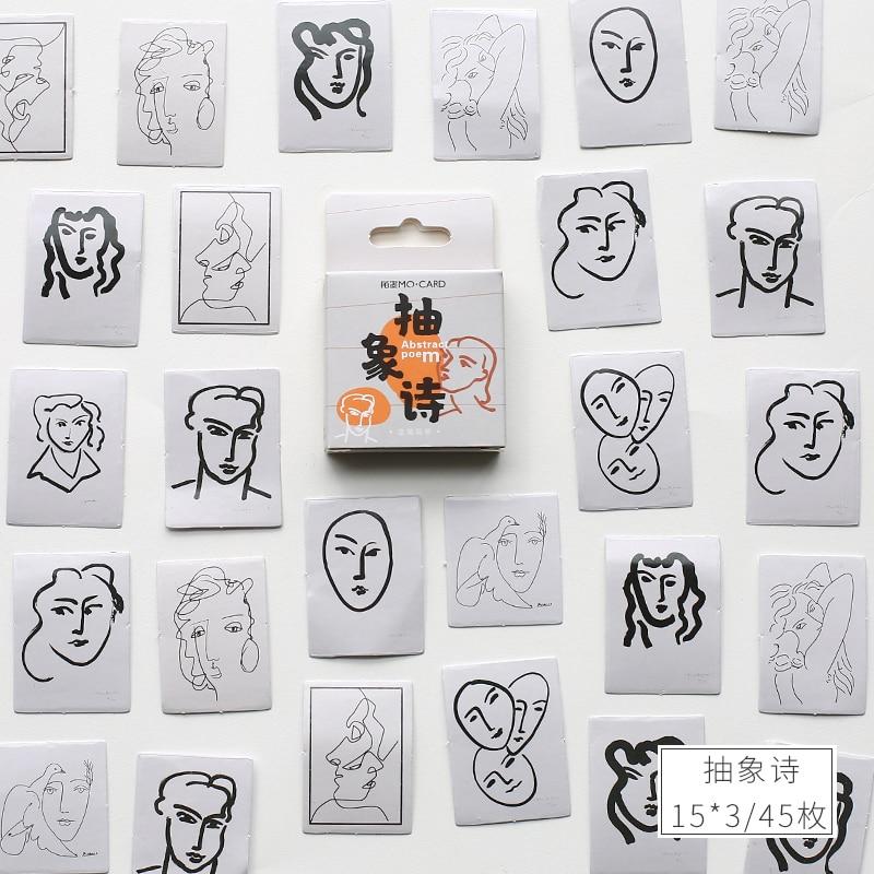 Mohamm 45 штук в штучной упаковке, наклейки s Life style, серия Ins, декорация, книга, цветок, декоративные наклейки, хлопья, скрапбукинг, подарок для девочки, школы S - Цвет: E