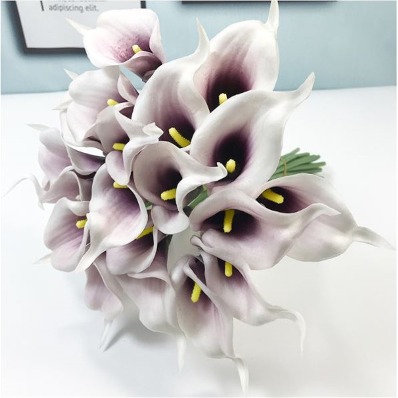 1PC PU Mini Tulips Artificial Flowers For Home And Wedding Decoration Flowers 41