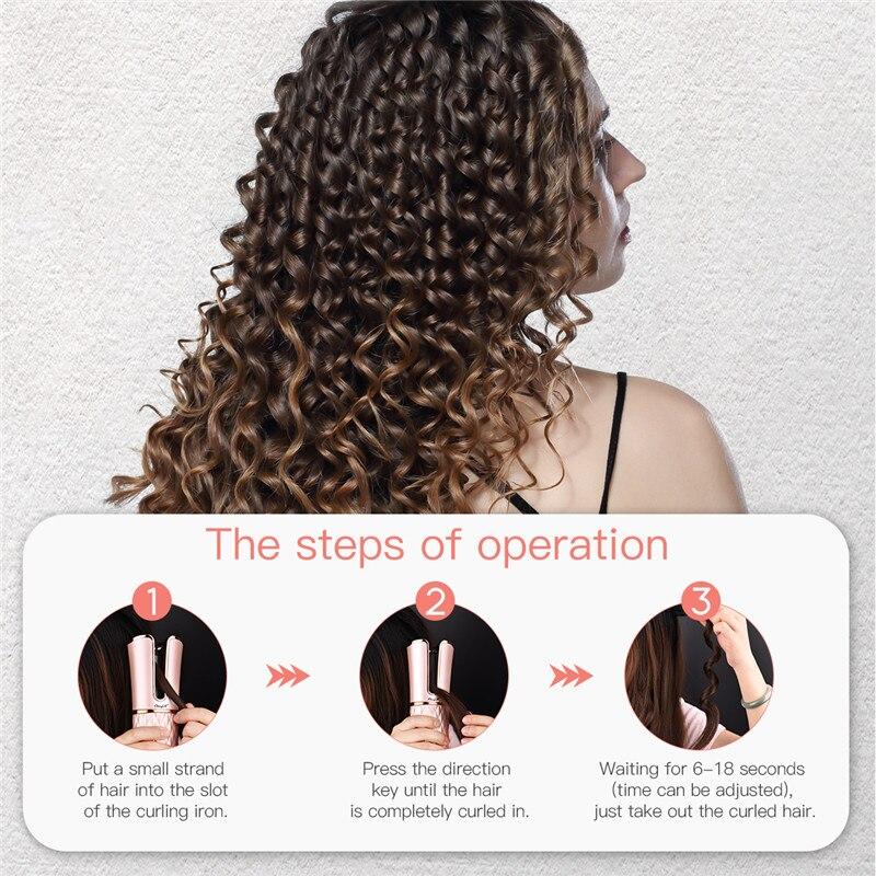 temporizador lcd digital cabelo curler ferros