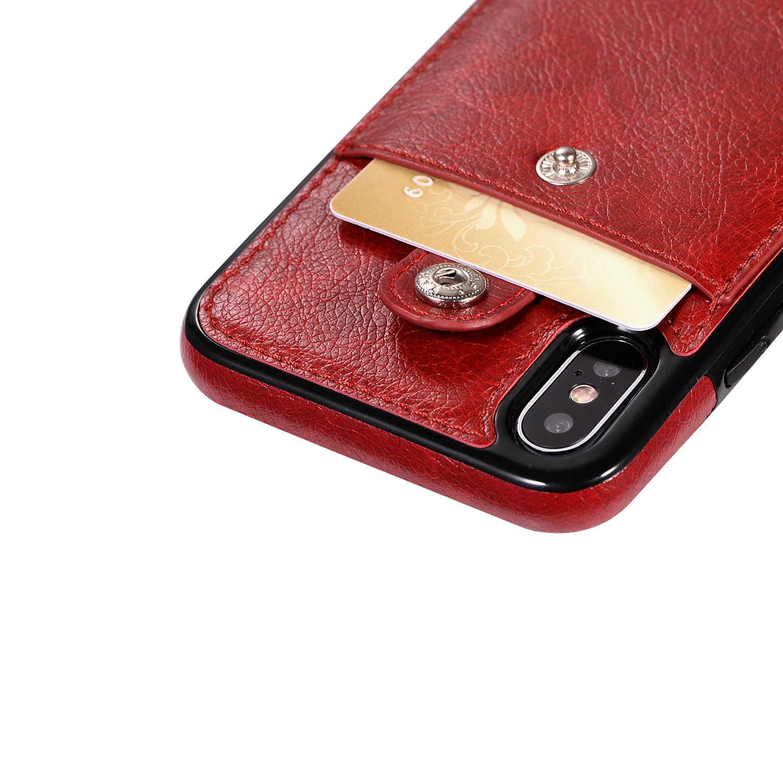 Ожерелье кожаный чехол для iPhone 11 Pro Max 11 Pro 11 XS Max XR XS X 7 8 6 6S Plus с отделениями для карт длинный ремешок кошелек сумка
